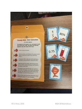 Equivalent Numbers Game - Benchmark Fractions, Decimals and Percent  6.4F, 6.4G