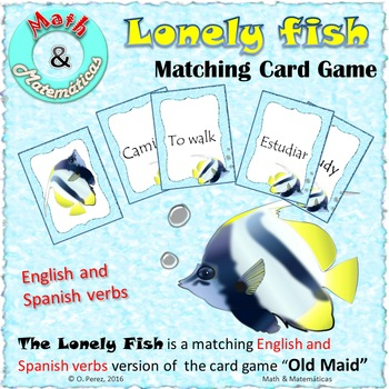 Learning Spanish Verbs Game (Infinitive Form), Matching English & Spanish