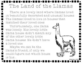 Lonely Llama - Geometry, Speaking, and Listening Skills