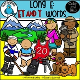 Long E: EY and Y Words Clip Art Set - Chirp Graphics