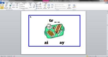 Long A - AI and AY - Task Cards