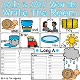 Long A: AI and AY Words Write the Room