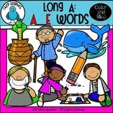Long A: A_E Words Clip Art Set - Chirp Graphics