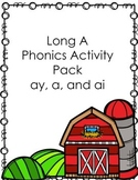 Long A Activity Pack (a, ay, and ai) No Prep!