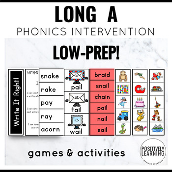 Long A Phonics Games for Intervention