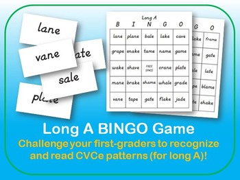 Long A BINGO Game for First Grade