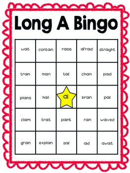 Long A Bingo Game Set (freebie in preview!)