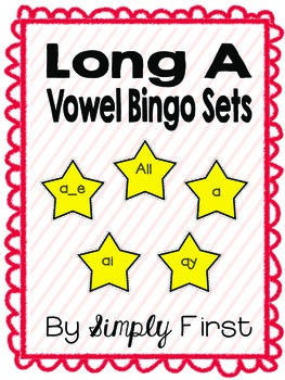 Long A Bingo Game Set (freebie in preview!)