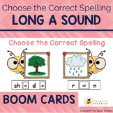 Long A Sound Boom Cards Choose the Correct Spelling | Dist