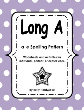 Long A CVCe Activities and Worksheets