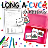 Long A CVCe Domino Phonics Activity for Literacy Centers