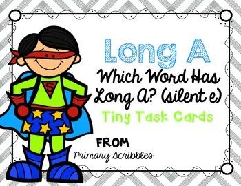 Long A (CVCe) Tiny Task Cards