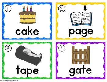 Long A CVCe Write the Room/Word Work Task Cards