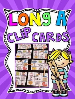 Long A Clip Cards Centers