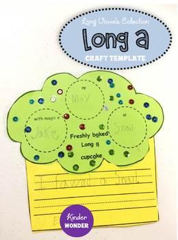 Long A Craft Worksheet template