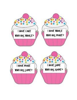 "Long ""A"" Cupcakes"