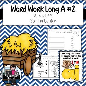 Word Work: Digraph Long A - AI, AY