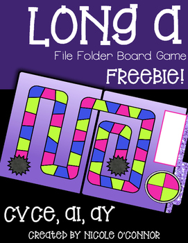 Long A File Folder Board Game Freebie