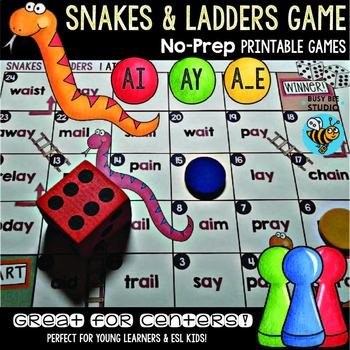 Long A Game: Snakes & Ladders (a_e, ay, ai)