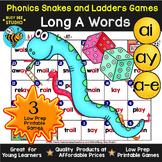 Long A Games: Snakes & Ladders (a_e, ay, ai)