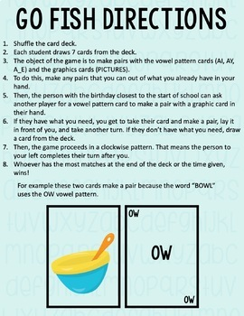 Long A Go Fish Card Game