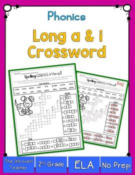 Long A & I Crossword Puzzle