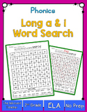 Long A & I Word Search