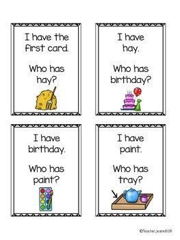 Vowel Teams - I have, who has cards (with and without pictures) - 5 Games