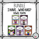 Vowel Teams - I have, who has cards (with and without pict