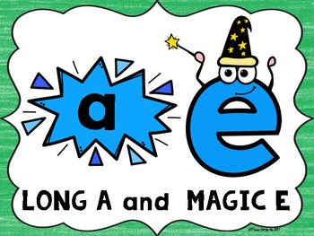 Long A Magic E Posters