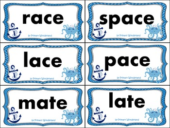 Long A Word Sort Cards