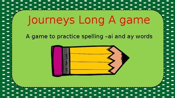 Long A  Phonics Game