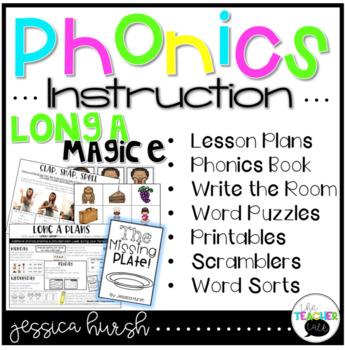 Long A Phonics Instruction - Magic E