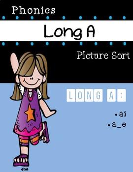 Long A Phonics Picture Sort