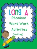 Long A Phonics/Word Work Activities {a-e, ai, ay}