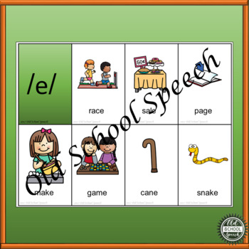Long A Picture Cards for Articulation