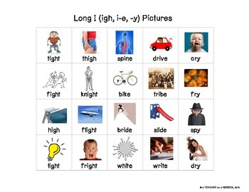 Long I: Picture and Word Sorts