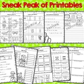 Long A Vowel Practice Printables