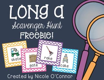 Long A Scavenger Hunt Freebie!