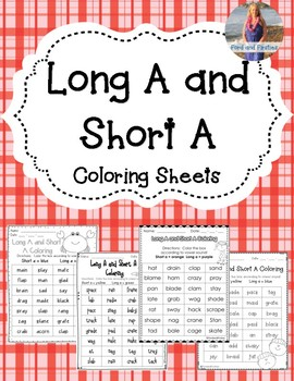 Long A & Short A Coloring! 4 pages