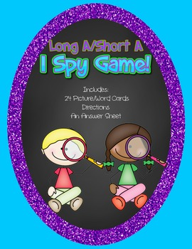 Long A/ Short A I Spy Game
