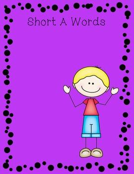 Long A/ Short A Picture Sort File Folder Activity/Literacy Center