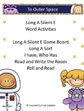 Long A Silent E Activities and Word Work