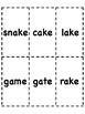 Long A - Silent E Bingo [10 playing cards]