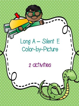 Long A - Silent E Color-By-Picture