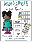 Long A Silent E Picture & Word Cards and Write & Wipe Cards