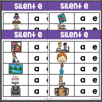 Long A Silent E Word Family Center Activities