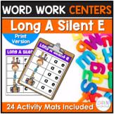 Long A Silent E Word Family Center Activities