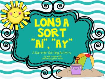 Long A Sort (AI and AY) {Summer Theme}
