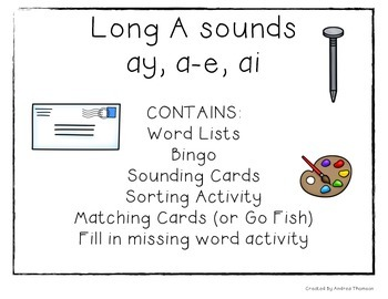 Long A Sound Activities